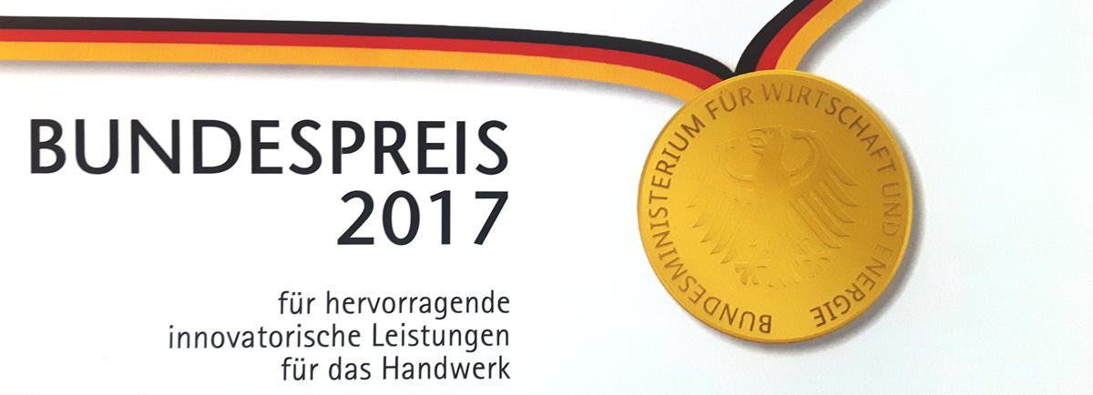 Bundespreis 2017 für hervorragende innovatorische Leistungen für das Handwerk